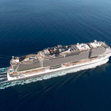 MSC Seaside pogled iz zraka